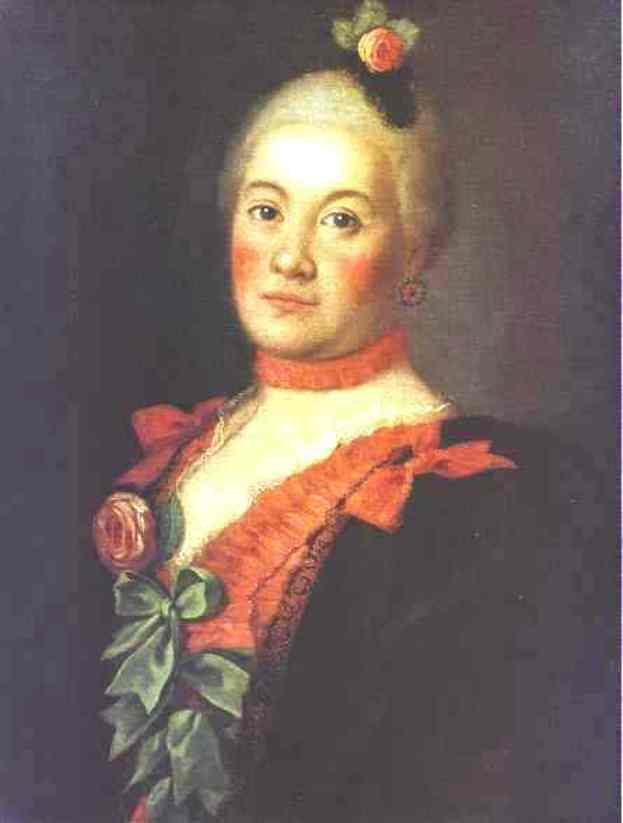 Portrait of Princess T. A. Trubetzkaya, Oil On Canvas by Alexey Petrovich Antropov (1716-1795, Russia)