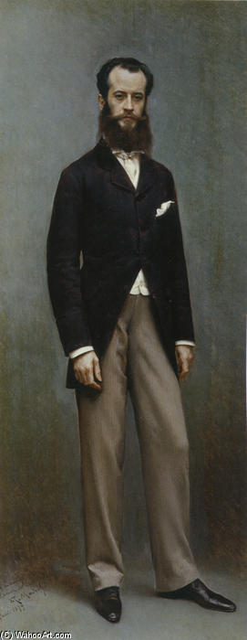 Portrait of Rámon de Errazu, Oil On Canvas by Raimundo De Madrazo Y Garreta (1841-1920, Italy)