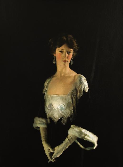 Portrait of Rosie, Fourth Marchioness of Headfort by William Newenham Montague Orpen (1878-1931, Ireland)