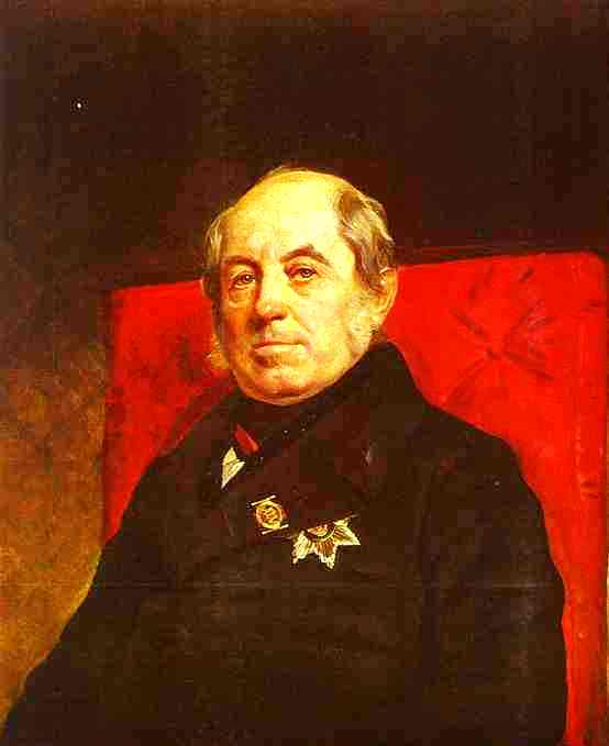 Portrait of S. G. Likhonin, 1841 by Karl Pavlovich Brulloff | Oil Painting | WahooArt.com