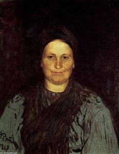 Ilya Yefimovich Repin - Portrait of Tatyana Repina, the Artist's Mother.