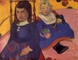 Paul Gauguin - Portrait of Two Children (also known as Paul and Jean Schuffenecker)