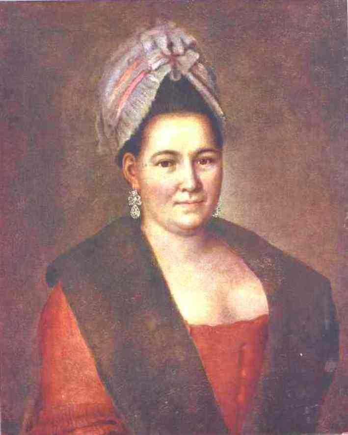 Portrait of an Unknown Woman, 1780 by Alexey Petrovich Antropov (1716-1795, Russia) | Art Reproductions Alexey Petrovich Antropov | WahooArt.com