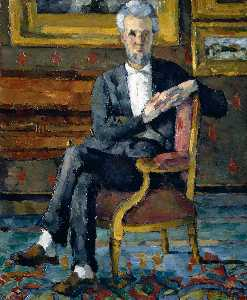 Paul Cezanne - Portrait of Victor Chocquet, Seated