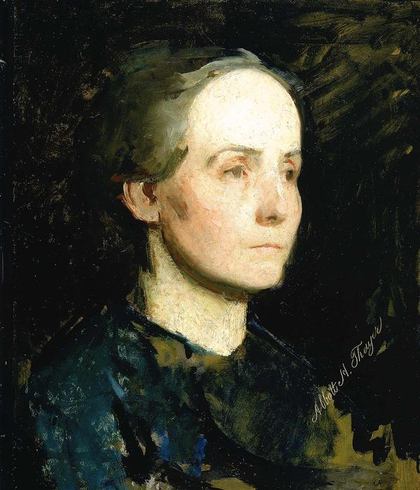 Portrait of a Woman (also known as Miss Gertrude Bloede), Oil On Canvas by Abbott Handerson Thayer (1849-1921, United States)