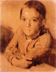 Adolph Menzel - Portrait of a Young Girl