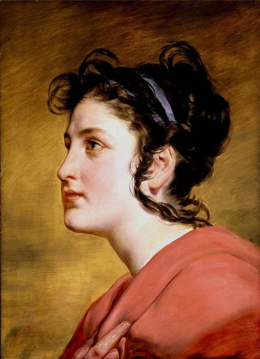 Portrait of a Young Girl by Friedrich Ritter Von Amerling (1803-1887) | Art Reproduction | WahooArt.com