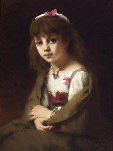 Alexei Alexeievich Harlamoff - Portrait of a young girl (8)
