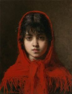 Alexei Alexeievich Harlamoff - Portrait of a Young Girl (14)