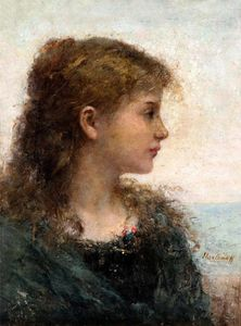 Alexei Alexeievich Harlamoff - Portrait of a Young Girl (15)