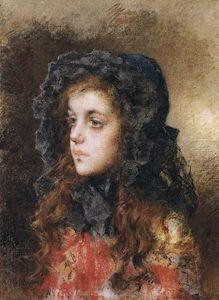 Alexei Alexeievich Harlamoff - Portrait of a young girl (27)