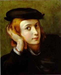 Antonio Allegri Da Correggio - Portrait of a Young Man