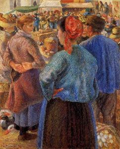 Camille Pissarro - The Poultry Market at Pontoise