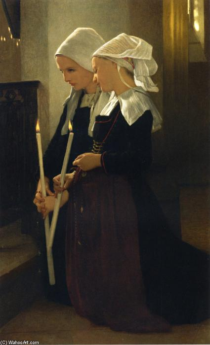 Prayer at Sainte-Anne-d'Auray, Oil On Canvas by William Adolphe Bouguereau (1825-1905, France)