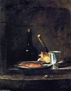Jean-Baptiste Simeon Chardin - Preparations for Lunch (also known as The Silver Goblet)