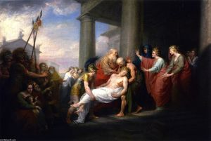 John Trumbull - Priam Returning to His Family with the Dead Body of Hector