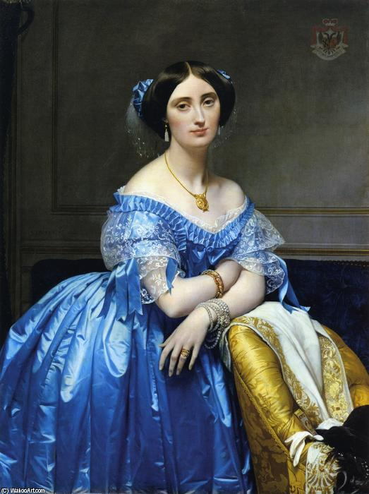Princess Pauline-Eleonore de Broglie, Oil On Canvas by Jean Auguste Dominique Ingres (1780-1867, France)