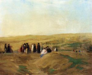 Robert Henri - Procession in Spain (also known as Spanish Landscape with Figures)