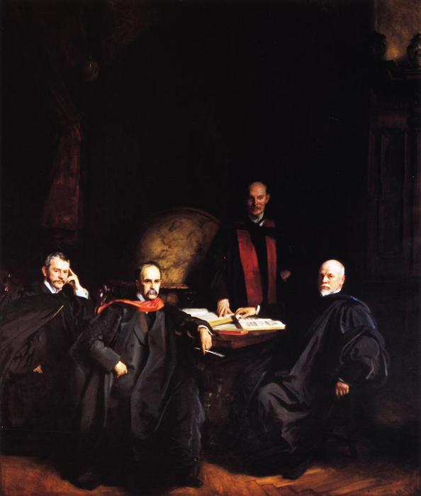 Professors Welch, Halsted, Osler and Kelly (also known as The Four Doctors), Oil On Canvas by John Singer Sargent (1856-1925, Italy)