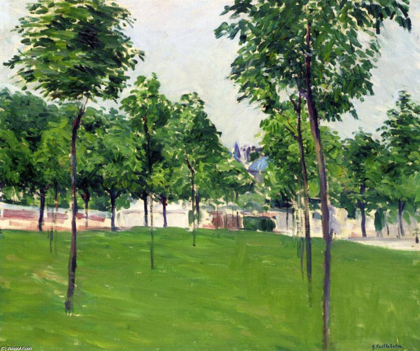 Promenade at Argenteuil, Oil On Canvas by Gustave Caillebotte (1848-1894, France)