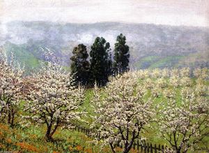 Theodore Wores - Prune Blossoms of Saratoga