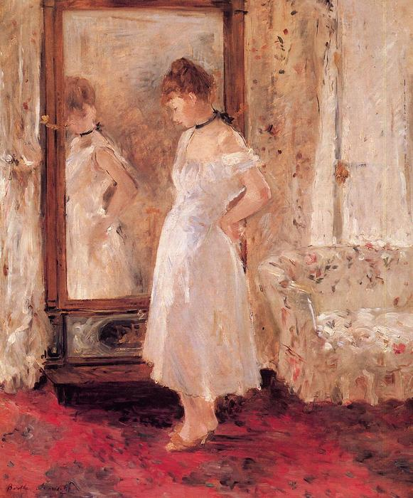Psyche, 1876 by Berthe Morisot (1841-1895, France) | Oil Painting | WahooArt.com