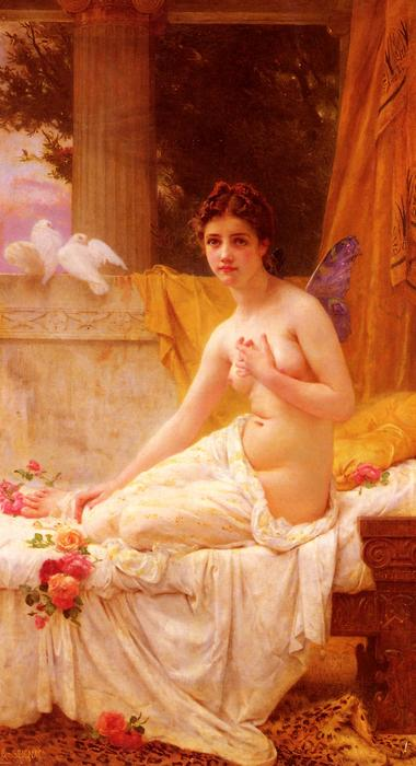 Psyche, Oil On Canvas by Guillaume Seignac (1870-1924, France)