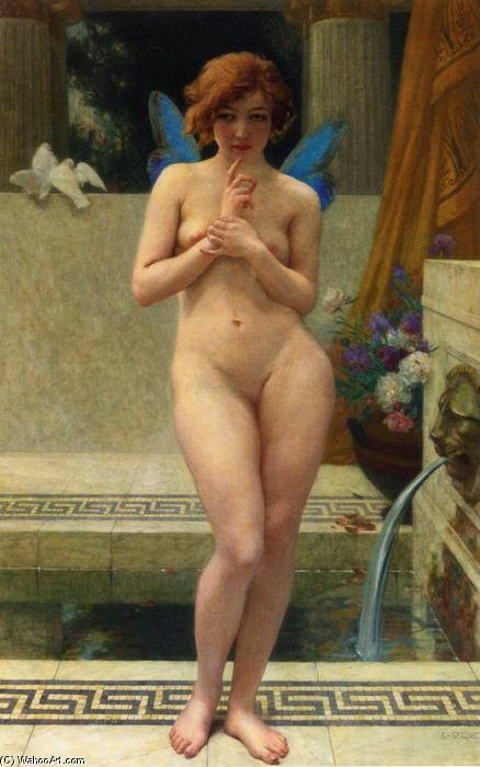Psyche at a Fountain by Guillaume Seignac (1870-1924, France) | Art Reproduction | WahooArt.com