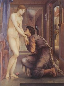 Edward Coley Burne-Jones - Pygmalion and the Image - The Soul Attains