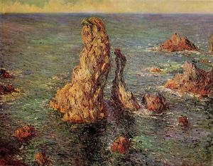 Claude Monet - Pyramids at Port-Coton