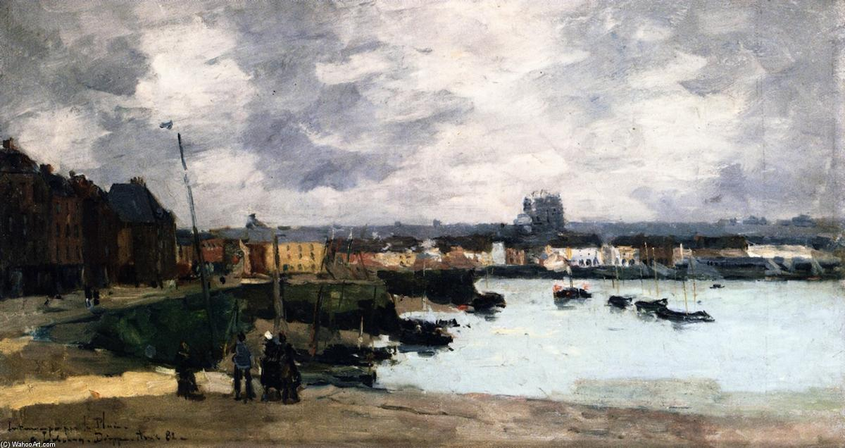 The Quays of Dieppe, after the Rain, Oil On Canvas by Albert Charles Lebourg (1849-1928, France)