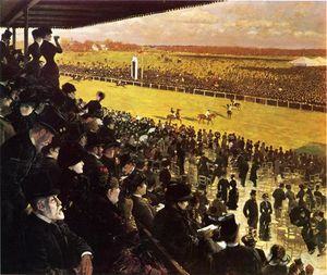 Giuseppe De Nittis - The Races at Longchamps from the Grandstand