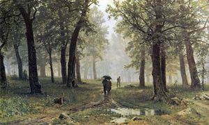 Ivan Ivanovich Shishkin - Rain in an oak forest