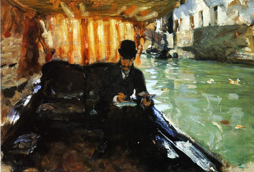 Ramon Subercaseaux, Oil On Panel by John Singer Sargent (1856-1925, Italy)