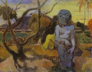 Paul Gauguin - Rave te htit aamy (also known as The Idol)