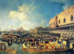 Giovanni Antonio Canal (Canaletto) - Reception of the Imperial Ambassador at the Doge-s Palace