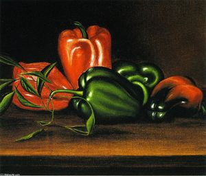 Levi Wells Prentice - Red and Green Peppers