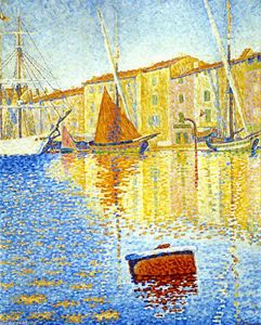 Paul Signac - Red Buoy (also known as Harbour at Saint Tropez)
