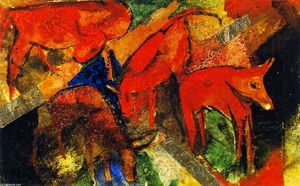 Franz Marc - Red Cattle