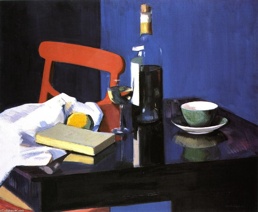 The Red Chair, Oil On Canvas by Francis Campbell Boileau Cadell (1883-1937)