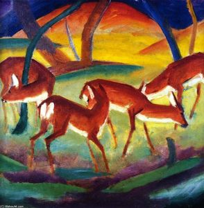 Franz Marc - Red Deer I