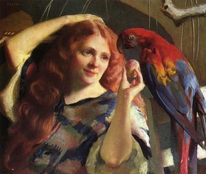 William Macgregor Paxton - Reddy and the Macaw