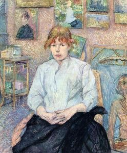 Henri De Toulouse Lautrec - The Redhead with a White Blouse