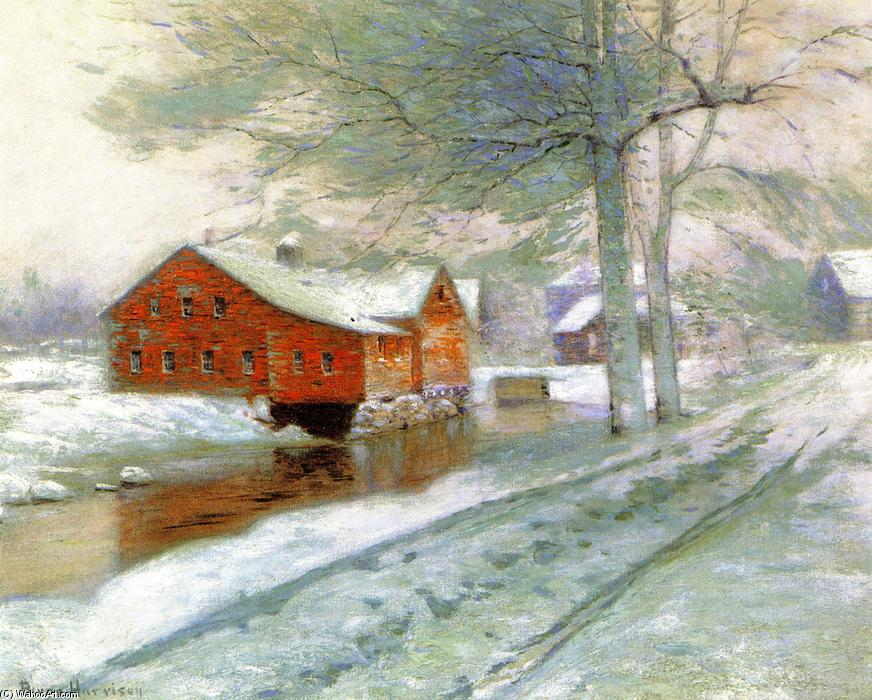 The Red Mill, Oil On Canvas by Lowell Birge Harrison (1854-1929, United States)