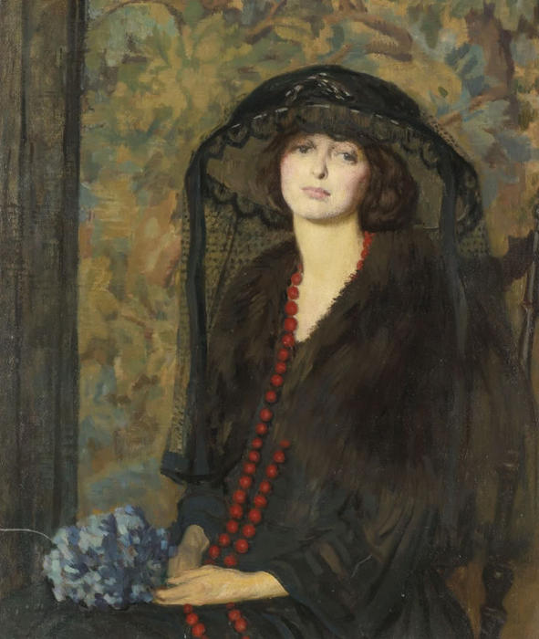 The Red Necklace by Phillip Leslie Hale (1865-1931, United States)