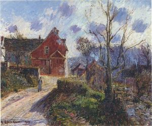 Gustave Loiseau - The red painted house