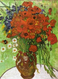 Vincent Van Gogh - Red Poppies and Daisies