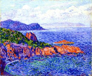 Theo Van Rysselberghe - Red Rocks at Le Trayes