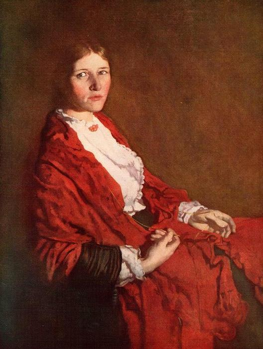 The Red Scarf by William Newenham Montague Orpen (1878-1931, Ireland)