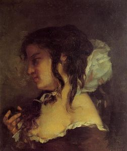 Gustave Courbet - Reflection (also known as Meditation)